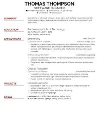 Best Resume Format For Fresher Software Engineers by Simplicity Resume Free Resume Example And Writing Download