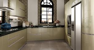 Modern Green Kitchen Cabinets Op16 L26 Modern Green Golden Silver Kitchen Cabinet
