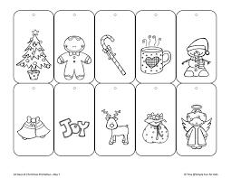 12 days of christmas coloring page christmas countdown day 7 color your own printable christmas gift