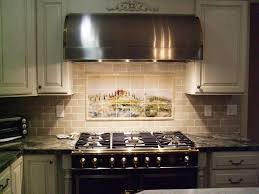 What Size Subway Tile For Kitchen Backsplash Champagne Glass Subway Tile Kitchen Backsplash With Dark Cabinets