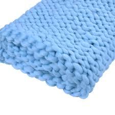 Handmade Home Decor New Merino Wool Chunky Knit Blanket Throw Afghan Yarn Handmade