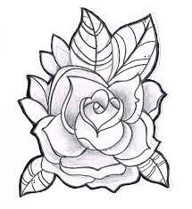rose sketch clipart 43