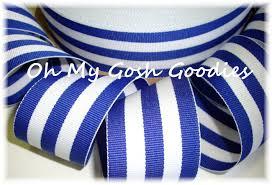 blue and white striped ribbon stripes