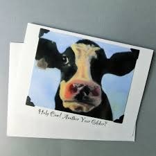 Cow Birthday Card Handmade Funny Birthday Card Cow Birthday Card Funny Animal