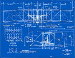 Blue Print Of A House Wright Models