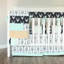 navy and mint buck boy crib bedding u2013 baby milan