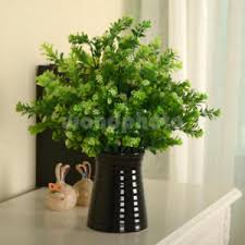 fake flowers for home decor artificial plants indoor outdoor fake flower leaf foliage bush