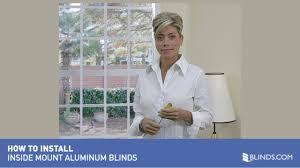 how to install aluminum blinds video inside mount u0026raquo
