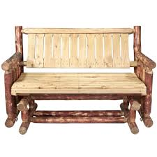 front porch rustic long glider chair for garden or front porch