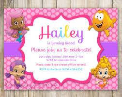 bubble guppies birthday invitations lilbibby com