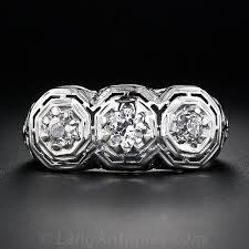 antique diamond rings images Three stone antique diamond ring jpg