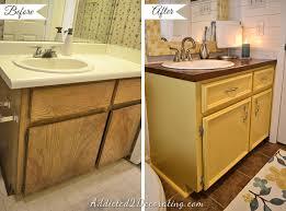 how to redo a bathroom sink redo bathroom vanity makeover thedancingparent com