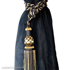 Black Gold Curtains And Gold Curtain Tie Backs