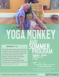 yoga monkey kids summer camp u2014 yoga sanctuary