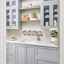 Ideas Concept For Butlers Pantry Design Gray Shaker Butler Pantry Cabinets Design Ideas