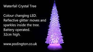 waterfall crystal christmas tree 32cm youtube