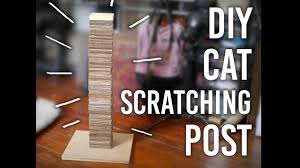 how to make a cat scratching post diy youtube