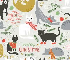 meowy christmas meowy christmas wallpaper shelbyallison spoonflower