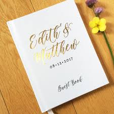 personalized guest books real foil wedding guest book 10 hardcover wedding guestbook