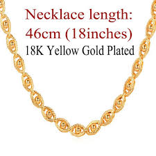 wholesale jewelry necklace chains images Gold color jewelry necklace chain wholesale trendy 55 cm beads jpg