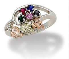 grandmother rings black gold mothers ring birthstones black gold