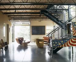 steel trusses living room industrial with wall decor contemporary
