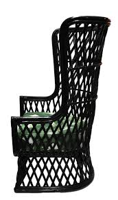 High Back Chair by Vintage Rattan High Back Chair Mecox Gardens