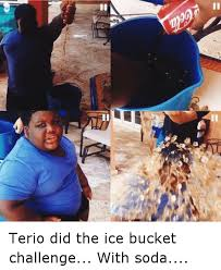 Terio Memes - a terio did the ice bucket challenge with soda funny meme on me me