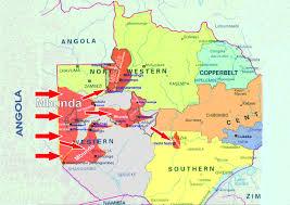 map of zambia list of mbunda chiefs in zambia