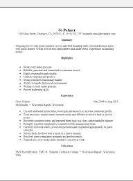 server resume template free entry level server resume template sle ms word