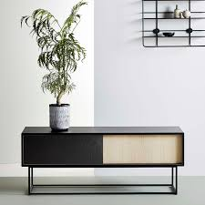 scandinavian design sideboard oak painted wood metal virka
