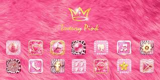 wallpaper luxury pink luxury pink go launcher theme cell phone app