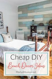 beach decor for bedroom inexpensive diy beach decor ideas and small bedroom reveal beach