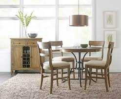 the nook 44 inch round metal counter dining set oak kincaid
