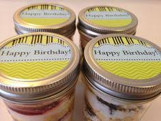Edible Birthday Favors by Cupcakes In A Jar Jars Birthday Favors Happy Birthday Edible