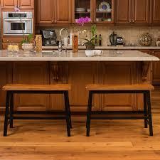 Pomeroy Home Decor Amazon Com Counter Bar Stool Bench Dining Wood Wide Saddle