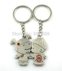 cute key rings images Wholesale kids party supplies love couple keychain for the keys jpg