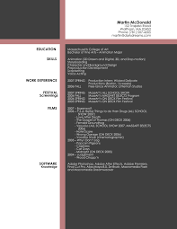 Resume Sample Graphic Designer Artist Resume Templates