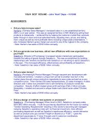 Sample Achievements In Resume by Key Accomplishments