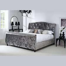 Velvet Tufted Headboard Furniture Tufted Mirrored Headboard Engaging Grey Velvet Tufted