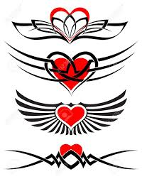 love tattoo set vector royalty free cliparts vectors and stock
