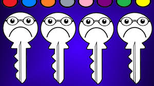 learn colors for kidscolor sad key coloring pages youtube