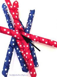 how to make a hair bow easy curly patriotic hair bow easy to make and enjoy white