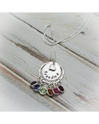 grandchildren necklace get the deal necklace grandmother necklace birthstone