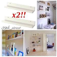 ikea mosslanda new ikea 2 picture ledge 21 book shelf spice rack holder mosslanda