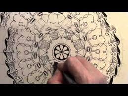 symmetrical mandala line drawing using your circular grid