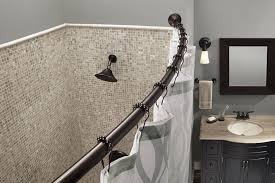 curved shower rods for small showers u2014 the homy design