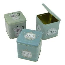 Retro Kitchen Canisters Set Of 3 Coffee Tea Sugar Hinged Lid Canisters Retro Kitchen