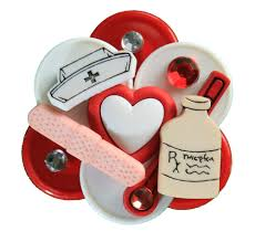 nurse badges with reel for medical id tags hand made