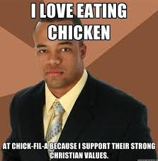 Gay Friday Memes - i love eating chicken chick fil a gay marriage controversy